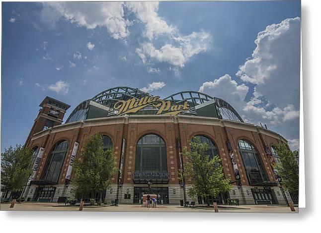 Milwaukee Brewers Miller Park 4 Greeting Card by David Haskett