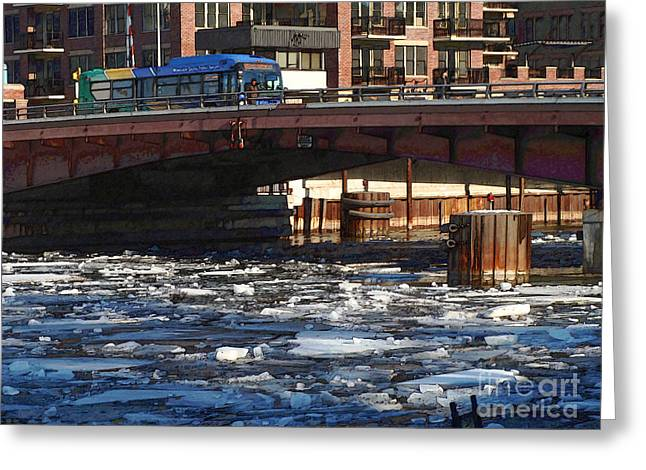 Milwaukee River - Winter 2014 Greeting Card by David Blank