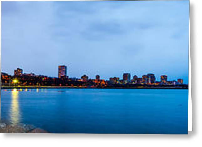 Greeting Card featuring the photograph Milwaukee Skyline - Version 1 by Steven Santamour