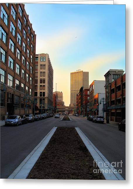 Milwaukee Street - Milwaukee Wi Greeting Card by David Blank