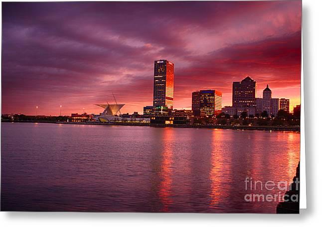 Milwaukee Sunset Greeting Card