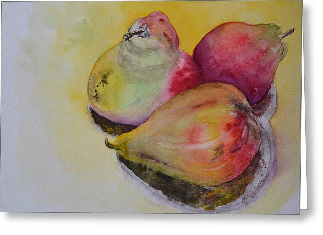 Mimi's Harvest Greeting Card by Beverley Harper Tinsley