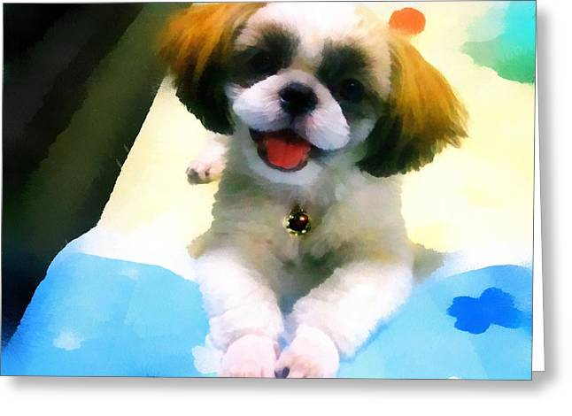 Mimi's Smile Greeting Card by Tony Chong