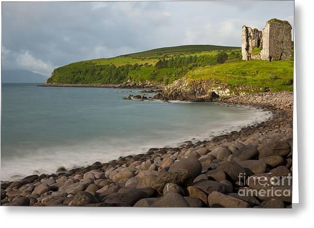 Minards Castle, Dingle Peninsula Greeting Card by John Shaw