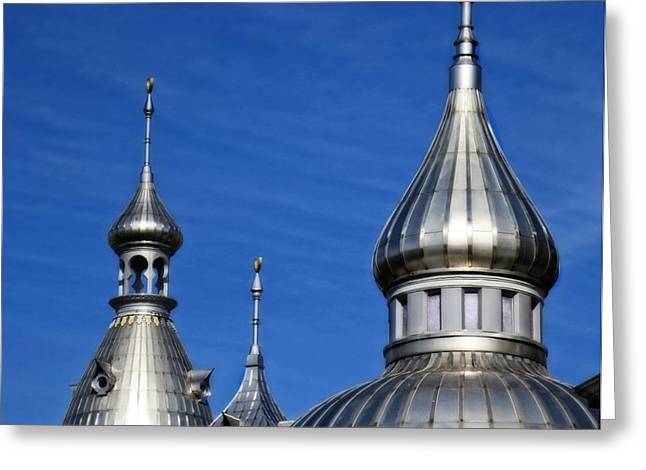 Minarets Of Tampa - Photography By Sharon Cummings Greeting Card by Sharon Cummings