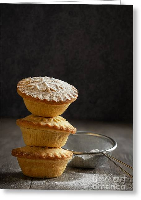 Mince Pie Stack Greeting Card by Amanda Elwell
