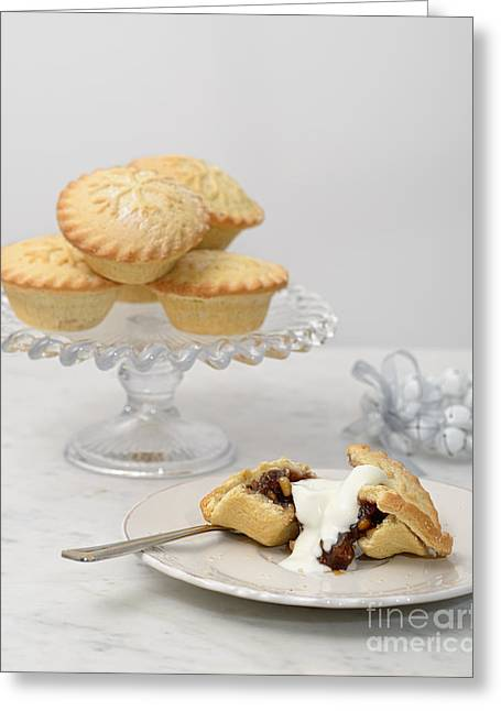 Mince Pies With Cream Greeting Card