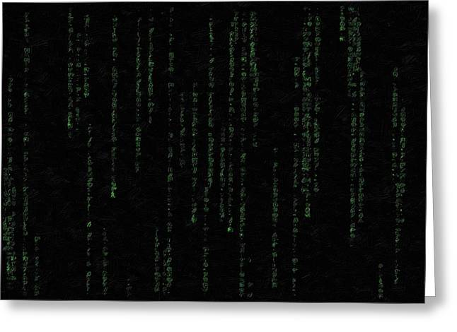 Mind Of The Matrix Greeting Card by Florian Rodarte
