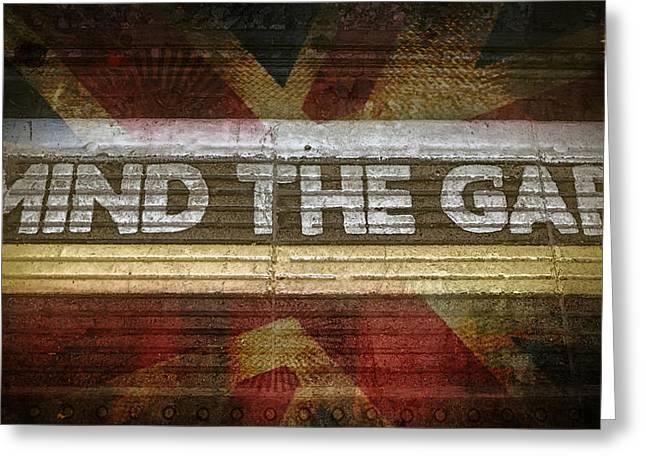 Mind The Gap Greeting Card by Joan Carroll