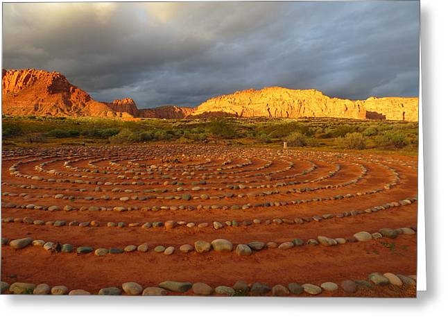 Greeting Card featuring the photograph Mindfulness In St. George Utah by Jean Marie Maggi