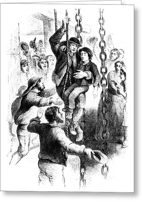 Mine Rescue, 1863 Greeting Card