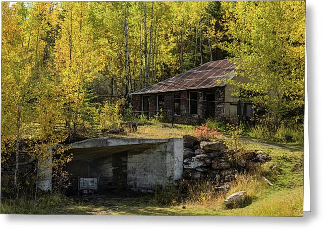Mine Shaft Entrance And Building Greeting Card by Panoramic Images