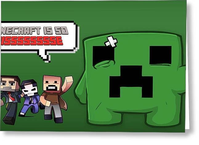 Minecraft greeting cards page 2 of 2 fine art america minecraft is so nisssse greeting card m4hsunfo