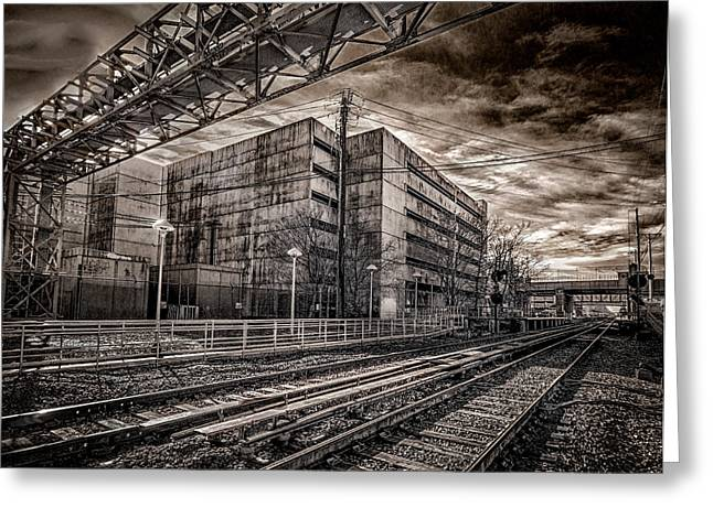 Greeting Card featuring the photograph Mineola Station by Steve Zimic