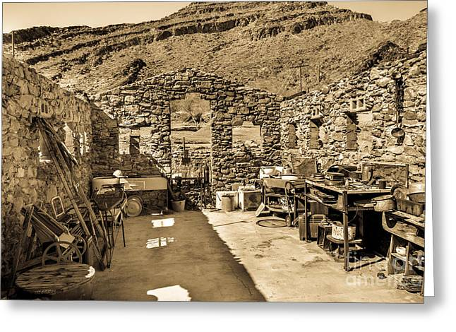 Miner Cabin Greeting Card by Robert Bales
