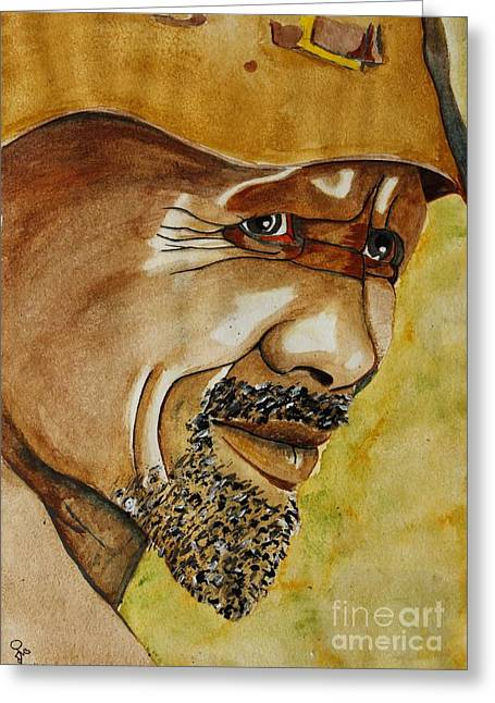 Miner Greeting Card by Grant Mansel-James