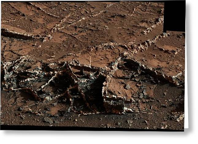 Mineral Veins On Mars Greeting Card