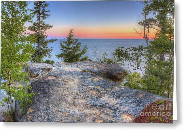 Miners Castle At Pictured Rocks Greeting Card