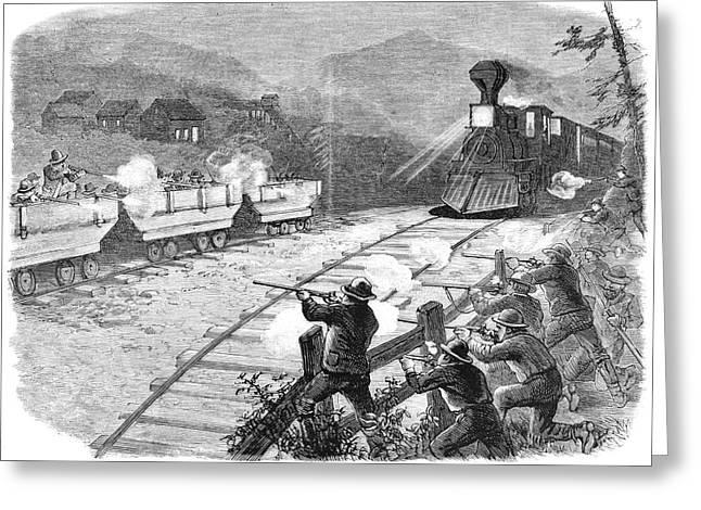 Miners' War, 1874 Greeting Card