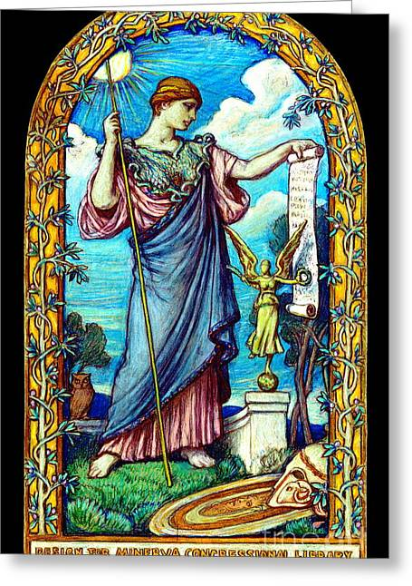 Minerva Mosaic Design 1896 Greeting Card