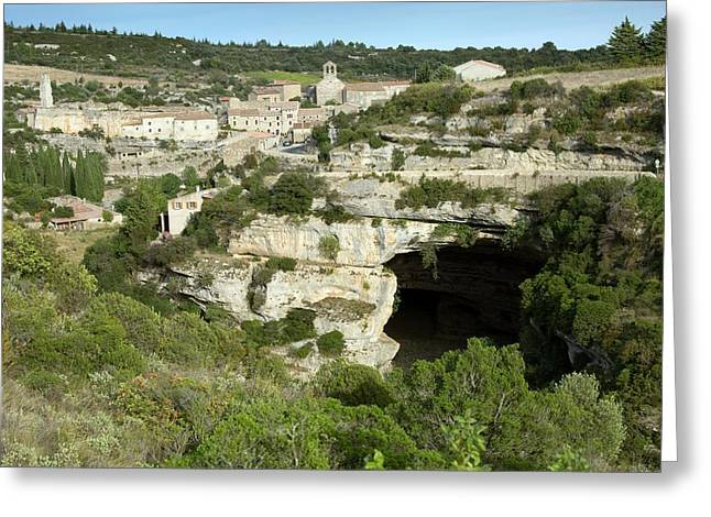 Minerve And River Cesse Greeting Card by Bob Gibbons