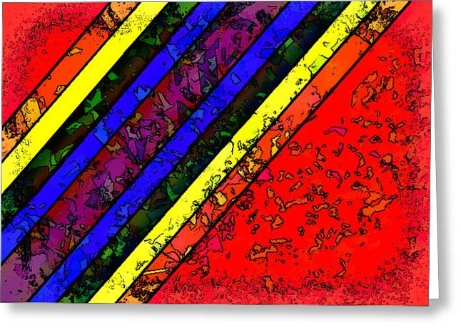 Mingling Stripes Greeting Card by Bartz Johnson