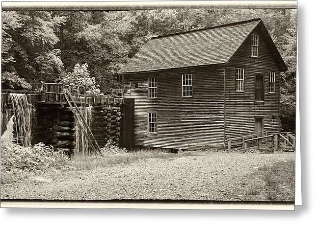 Mingus Mill Antiqued Greeting Card by Stephen Stookey