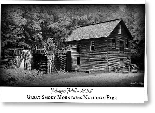 Mingus Mill -- Black And White Poster Greeting Card by Stephen Stookey
