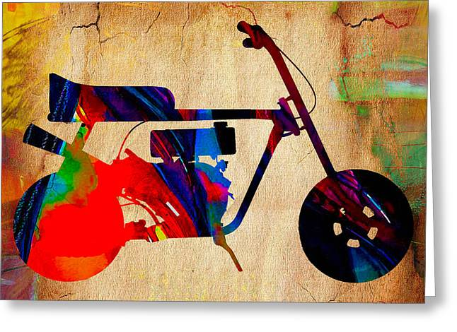 Mini Bike Art Greeting Card