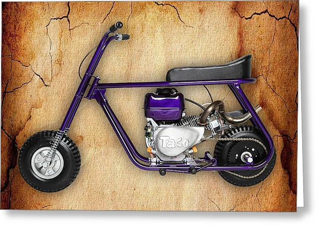 Mini Bike Taco 22 Greeting Card by Marvin Blaine