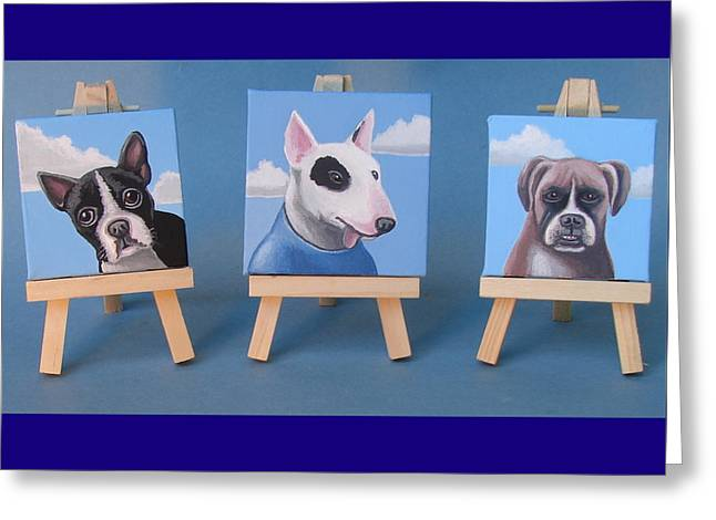 Mini Dog Portraits 2 Greeting Card by Stuart Swartz