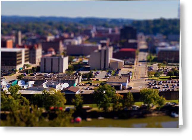Mini Downtown Parkersburg Greeting Card by Jonny D