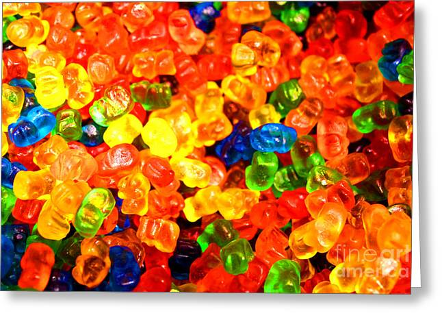 Mini Gummy Bears Greeting Card