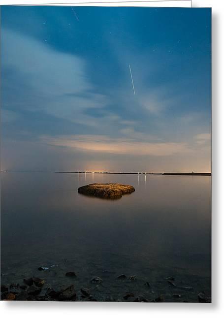 Mini Island Greeting Card by Kristopher Schoenleber