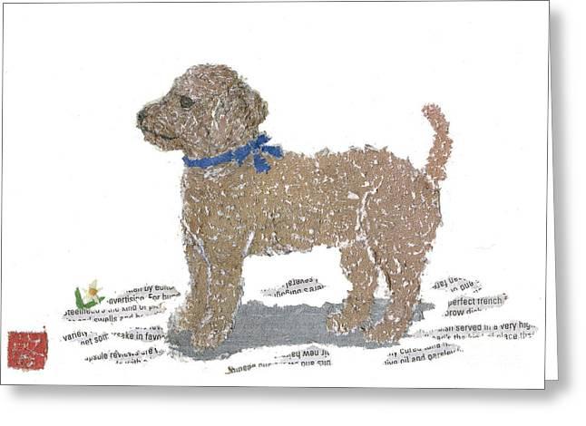 Poodle Art Greeting Card by Keiko Suzuki