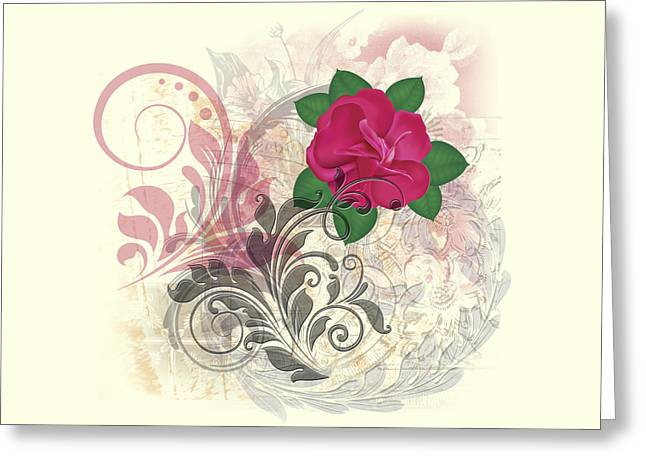 Mini Rose Flourish Greeting Card