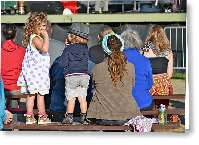 Mini Spectators Greeting Card