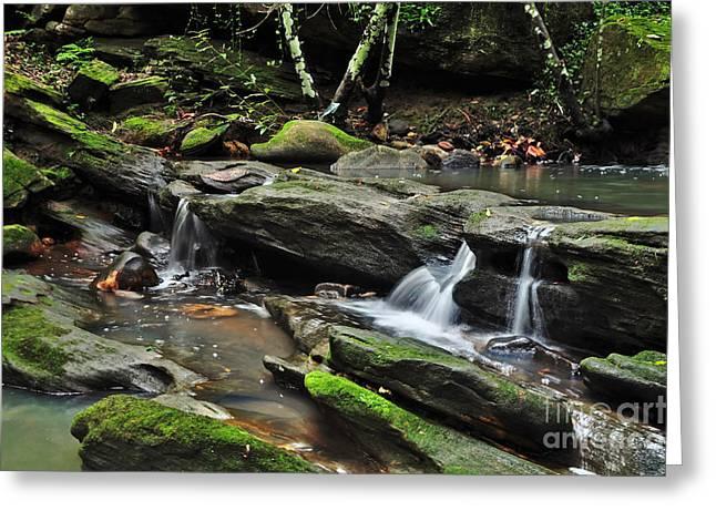 Mini Waterfalls Greeting Card