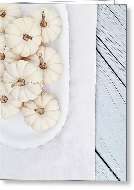 Mini White Pumpkins Greeting Card