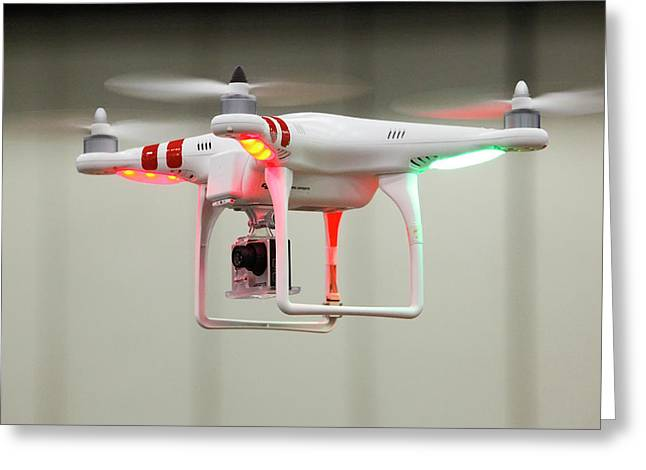 Miniature Camera Drone Greeting Card