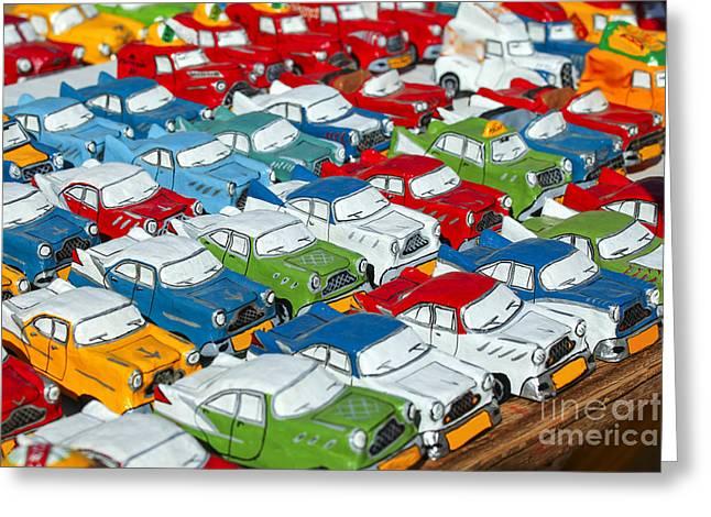 Miniature Oldsmobiles Greeting Card by Patricia Hofmeester