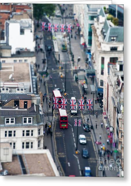 Miniature Oxford Street Greeting Card