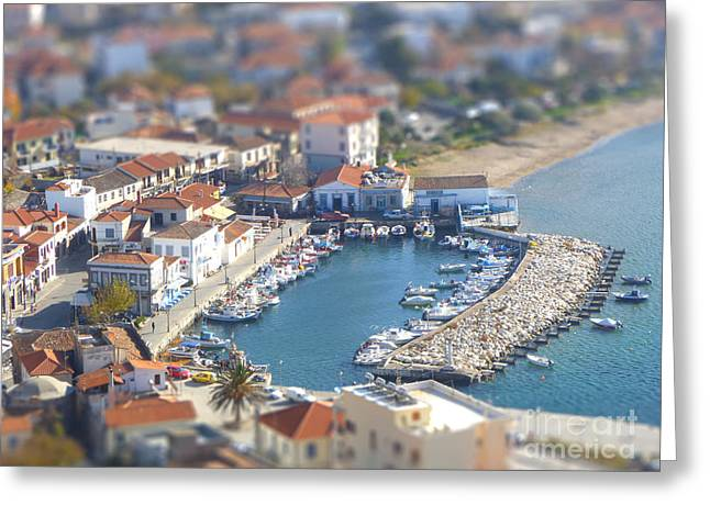 Miniature Port Greeting Card by Vicki Spindler