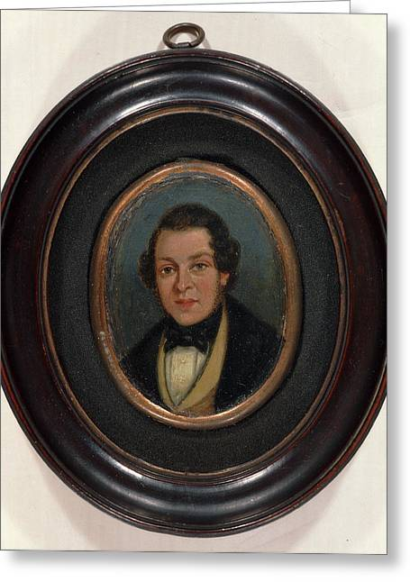 Miniature Portrait Of Abram Constable, Brother Of The Artist Greeting Card by Litz Collection