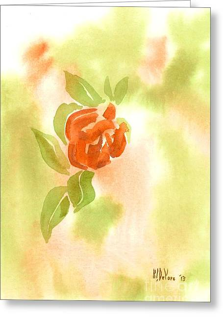 Miniature Red Rose In The Garden Greeting Card by Kip DeVore