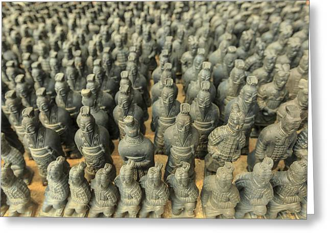 Miniature Warriors, Terra-cotta Greeting Card by Stuart Westmorland