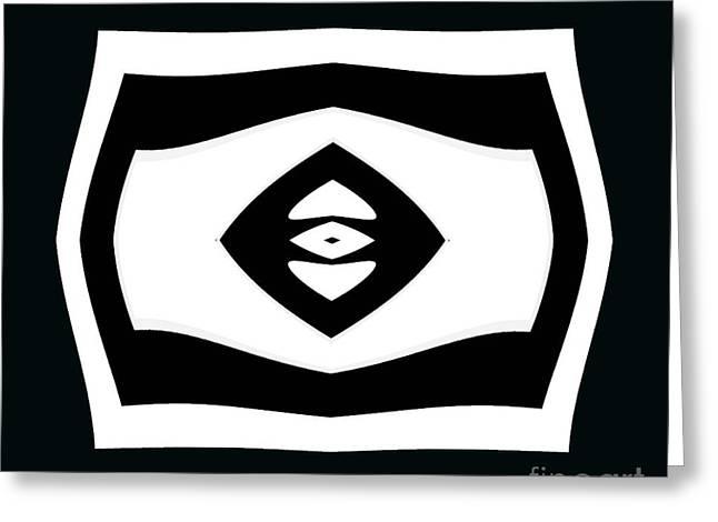 Minimalism Black White Geometric Abstract Art No.284. Greeting Card by Drinka Mercep