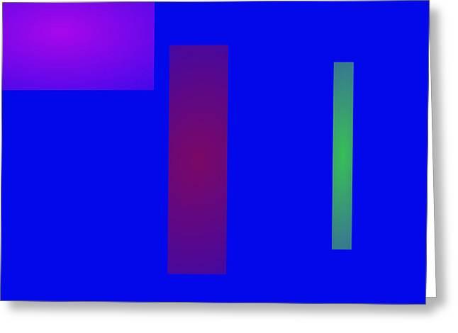 Minimalism Blue Greeting Card by Masaaki Kimura