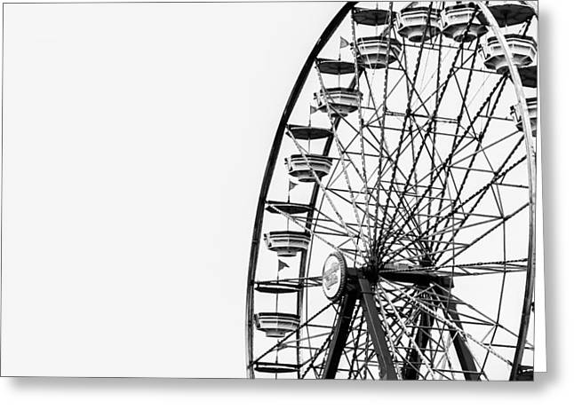 Minimalist Ferris Wheel Greeting Card by Jon Woodhams