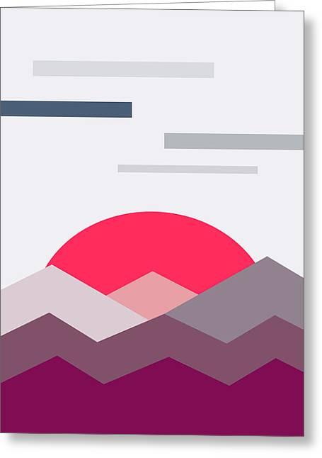 Minimalistic Landscape Greeting Card